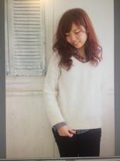 レッドブラウン  1色染め/ワンメイク MODE K's豊中店所属・西殿奈央のスタイル