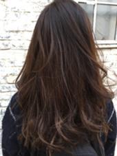◎カラー ブリーチ毛をいかして、アッシュベースのグラデーション Bonita by Lafamilia所属・ニシムラカナのスタイル