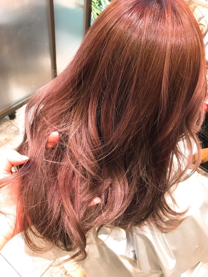 #ロング 綺麗なピンク系のカラー💓💓 柔らかい印象になれます🌹
