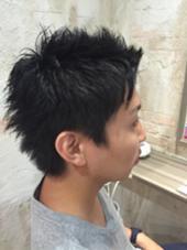 バッサリショートにアレンジ!前髪をあげて爽やかショート♪( ´▽`) Hair resort Ai 上野店所属・富樫光のスタイル