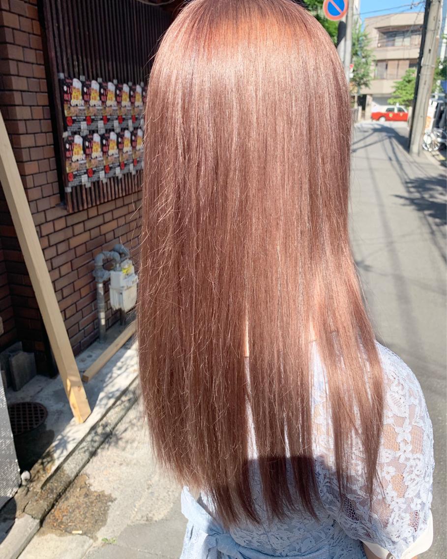 #ミディアム #カラー pink beige✨