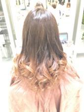 ブリーチなしグラデーション☆  グラデーションやりたいけど、ブリーチしたくない方にオススメです(*^^*) hair&make earth   大船店所属・大澤優樹のスタイル