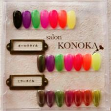 今話題のミラーネイル&オーロラネイル☆  ワンカラー・指定カラー(写真参照)  4,000 salon  KONOKA所属・小野里美のフォト