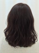 バイオレットブラウン  1色染め/ワンメイク MODE K's豊中店所属・西殿奈央のスタイル