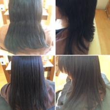 ジュネス酸性ストレートのビフォーアフターです☆ 伸びにくいくせ毛でも、ツルツルさらさらに!!! ing's hair(イングスヘアー)所属・日谷真奈美のスタイル