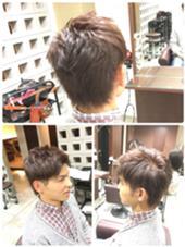 カラーはアッシュ系の色でツーブロックスタイルでカットしました。 MOKU hair salon春日店所属・熊谷勝磨のスタイル