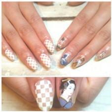 Japanese Pattern Nail ¥12,000 プロデュースネイル Nail salon AVARICE所属・_KIMIKOのフォト