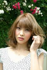春夏ミディアムレイヤースタイル☆  透明感のあるハイトーンカラー 藤崎謙輔のスタイル
