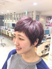 ピンクバイオレット アッシュと混ぜることにで透明感のあるピンクバイオレットカラーになります ブリーチ必須です!!! WiLL DRESS所属・益田優花のスタイル
