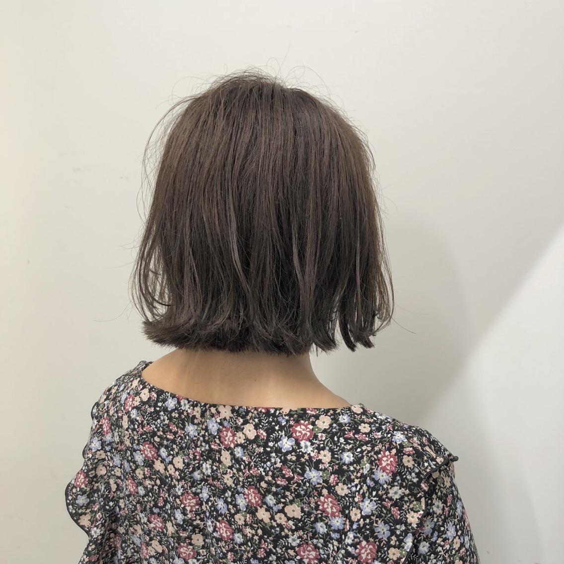 #ショート #カラー #パーマ #ヘアアレンジ 【切りっぱなしボブ×グレージュ】  Instagramにもヘアスタイル載せてますので是非♪♪ ⬇︎⬇︎ yuuki_matsui_