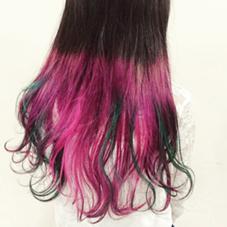技術者YUICHIさんです! グリーンがアクセントの色鮮やかなカラーです! Hair&MakeZEST吉祥寺店所属・ZESTあぜげのフォト