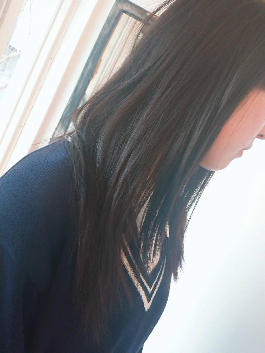 #ロング 黒髪を綺麗にカット☺️✂️ 校則違反はNo! No!!🙅