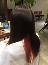 インナーカラーにはビビッドなピンクを♡アレンジなどをすると見えるのでとてもオススメです! wagon所属・高山愛来のスタイル