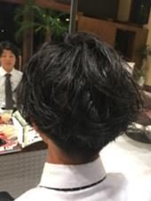 カットパーマ 重みを残してゆるーくパーマ!!  Hair Garden Riesort所属・和泉勇輝のスタイル