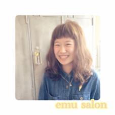 重ため眉上バング×ゆるふわパーマ   emu salon所属・森美紗嬉のスタイル