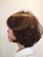 ふんわりパーマをかけて、動きのあるボブに。 U.hair所属・齊藤章悟のスタイル