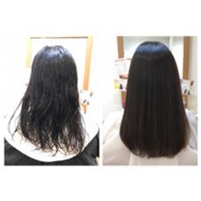 初めての縮毛矯正で毛先まで当てました GANESHA所属・西村真央のスタイル