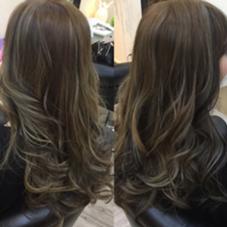 カラー ロング ハイライト、ローライトで立体感ある髪色に☆外国人風ヘアカラー