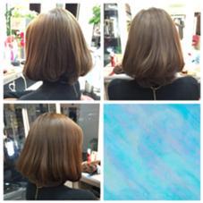 ムラだった髪色を単色塗りでムラなく綺麗に✨✨ LUCK鎌倉所属・石川佳穂のスタイル