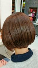 ナチュラルなボブ。 スタイリング無しでもきれいに収まります☆ hair make DISPLAY所属・山中誠一朗のスタイル