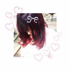 ダブルカラーで暗すぎない夏ピンクカラー♡ LIRA by CUORE所属・さかもとしおんのスタイル