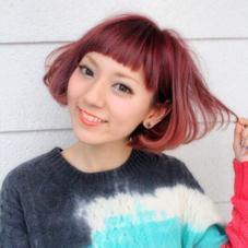 暗髪ブームですが、やっぱりこのくらいのカラーも可愛いですね☆ La.a.g.f所属・下地由美のスタイル
