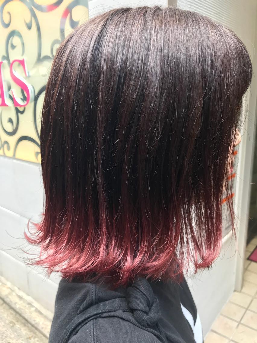 #ショート #カラー pink gradation✨