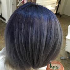 全体ブリーチ3回の擬似リタッチカラー。  hair salon dot. tokyo所属・海野拓郎のスタイル