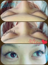 Cカール 0.15  目頭から10.11.12ミリ 目尻にかけて長くしたスタイル♡ Hair Resort    LINO所属・柴田和美のフォト