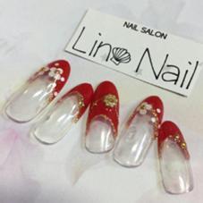 新規様(他店オフ込み)5000円キラキラデザインコース Lino Nail(リノネイル)所属・Lino Nailsekitomiのフォト