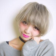 ホワイティーボブ♡♡外国人風カラー得意です♡ Viola所属・Violahairのスタイル