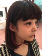流行りのイヤリングカラー♡人とは違うカラーでおしゃれにしましょう! M.SLASHセンター北所属・山口友香のスタイル