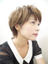 大人ショートをカジュアルに HAIR studio ciel所属・浅野幸二のスタイル