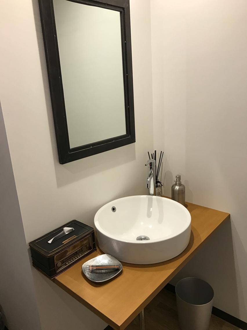 広いおトイレもuniverseこだわり! 最後にメイク直しもゆっくりして