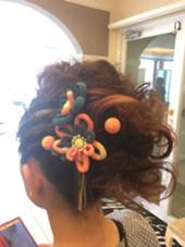 お祭りでよさこいを踊る方のヘアアレンジ! サイド、フロント編み込みのモヒカンスタイルです! M.TANIGUCHI  branche'所属・柴田桂輔のスタイル