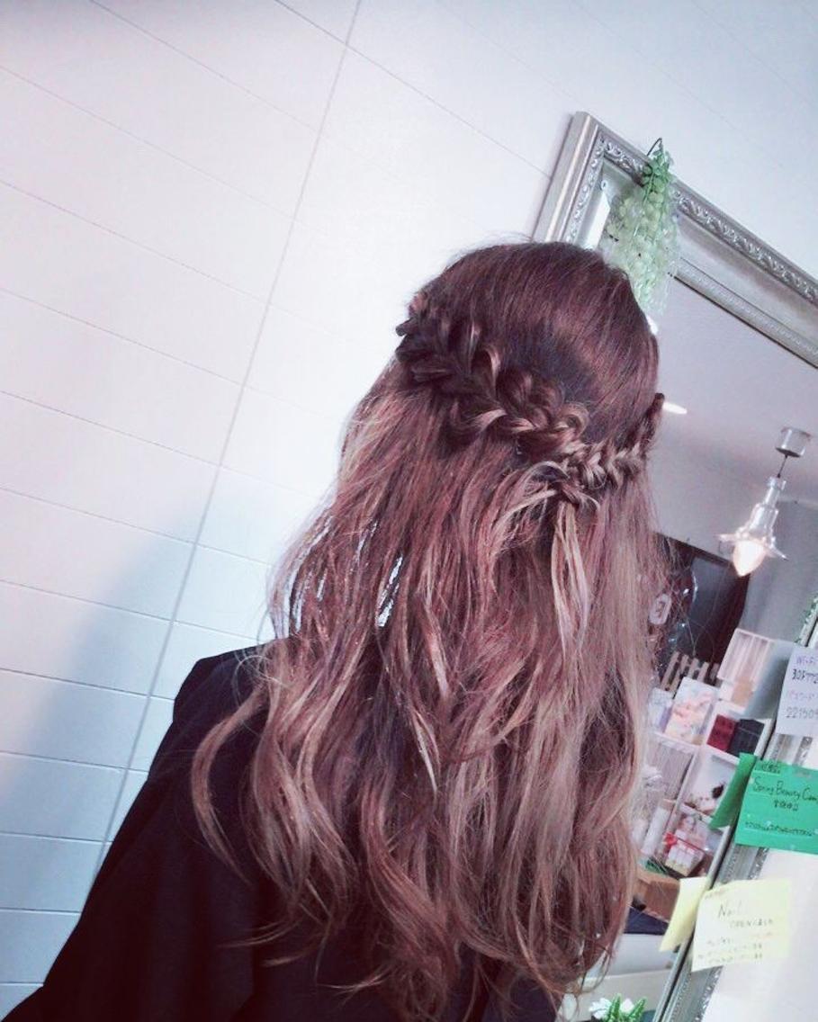 #ヘアアレンジ hairset(^^)♡