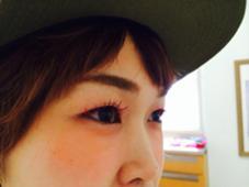 カラーアイラッシュ ピンク&赤&レッドブラウンmix クリッパー所属・松井里奈のスタイル