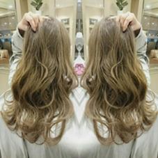 細かい3Dカラーにホワイティアッシュをのせた外国人風カラーになります☆ AUBE hair lagoon所属・田辺貴裕のスタイル