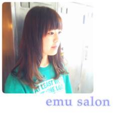 セクションカラー☆ ブリーチの後にグレーアッシュで カラーをして透け感のあるカラーに♪ emu salon所属・森美紗嬉のスタイル