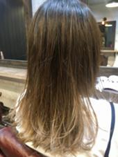 【 バレイヤージュ × グラデーション 】  根元が伸びても気にならない 自然なグラデーション ♪  高江秀聡のヘアカラーカタログ