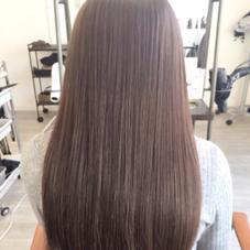 カラー ロング イルミナカラーで毛髪再生★グレージュ系  3ステップトリートメント 炭酸泉スパ