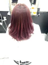 ブリーチしてるので透明感抜群♪ イルミナカラーの新色トワイライトめっちゃ綺麗です☆ hair  design germe所属・篠田和希のスタイル