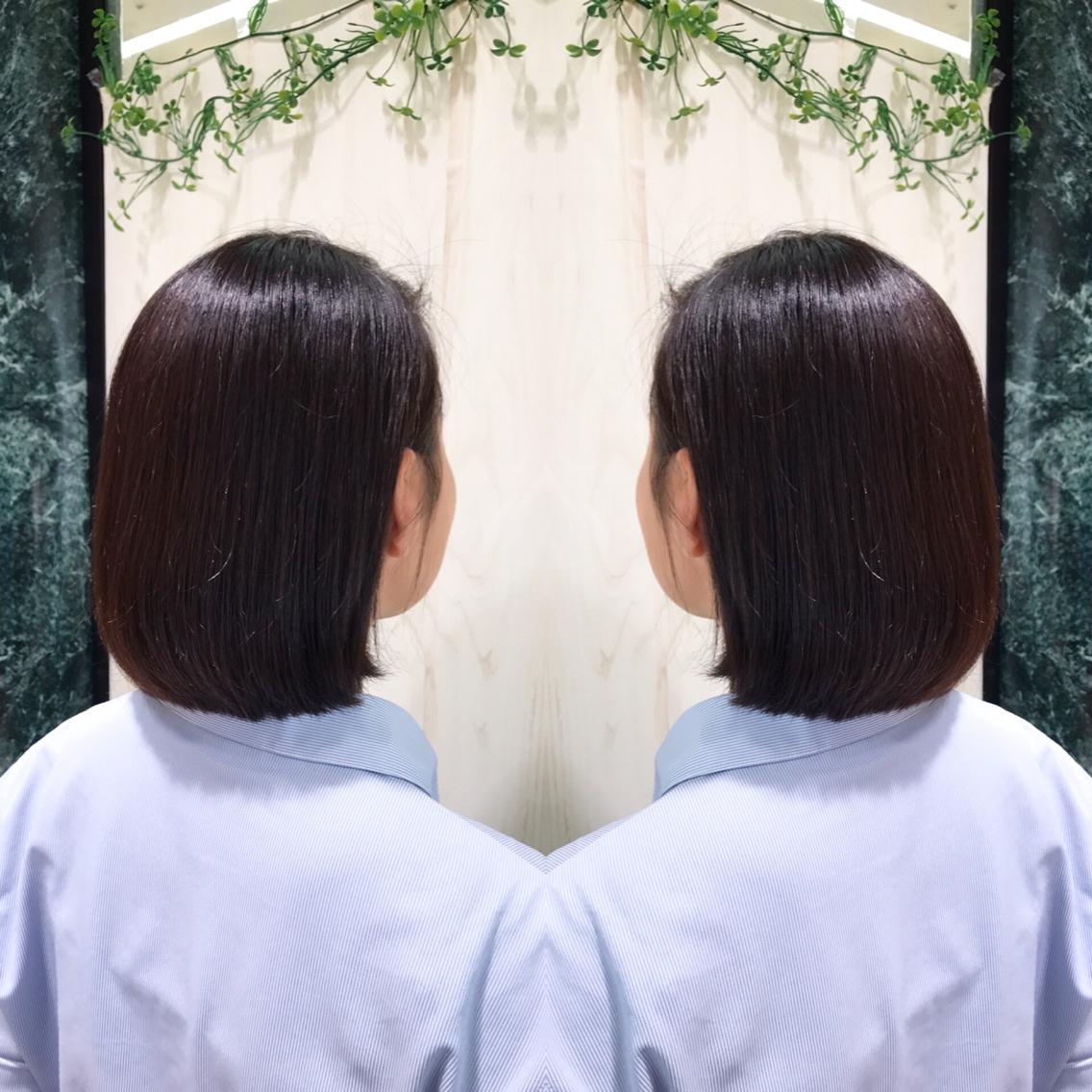 #ミディアム #パーマ 髪を綺麗に伸ばしたい方へ…プレミアム縮毛矯正💇✨