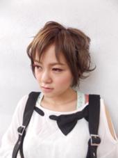 ショートに遊び心を*\(^o^)/* Hair studio olive 駒川店所属・久徳美由紀のスタイル