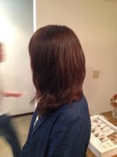 ほんのり赤みのブラウンです!   NiL所属・シンジダイキのスタイル