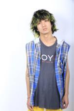無造作ポイントカラー JUNES HARAJUKU所属・stylistいがらしももこのスタイル