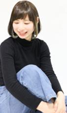 耳前にインナーカラーで遊び心★ Hair Make nico所属・西谷美穂のスタイル
