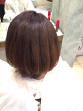 ラベンダーブラウン!  パープル系のカラーでうるツヤグラデーション(*´∀`*) LOUVRE Total Beauty Salon 生駒店所属・嘉名真樹のスタイル