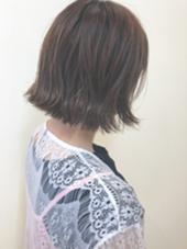 ワンレンボブで毛先は外ハネにしています☆ morio from london 大宮2号店所属・細矢茉里子のスタイル