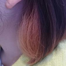 ハーフアップインナーカラー♪チラッとカラーを見せて楽しみましょ❤ femme宝町店所属・山岡莉帆のスタイル